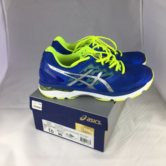 asics mens running trainers size 10